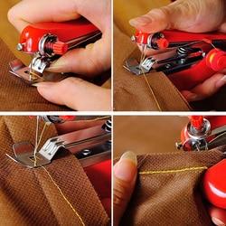 1pcs Hot Selling Useful Portable Needlework Cordless Mini Hand-Held Clothes Fabrics Sewing Machine 8 Random Color