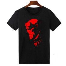 HELLBOY COMIC SUPERHERO COOL T SHIRT UNISEX FUNNY CASUAL ROUND NECK T-SHIRT Camisetas Hombre TOPS TEE SHIRT