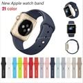 Caliente venta banda de silicona con conector adaptador para Apple venda de reloj de 42 mm / 38 mm correa para iWatch deportes pulsera hebilla 21 colors