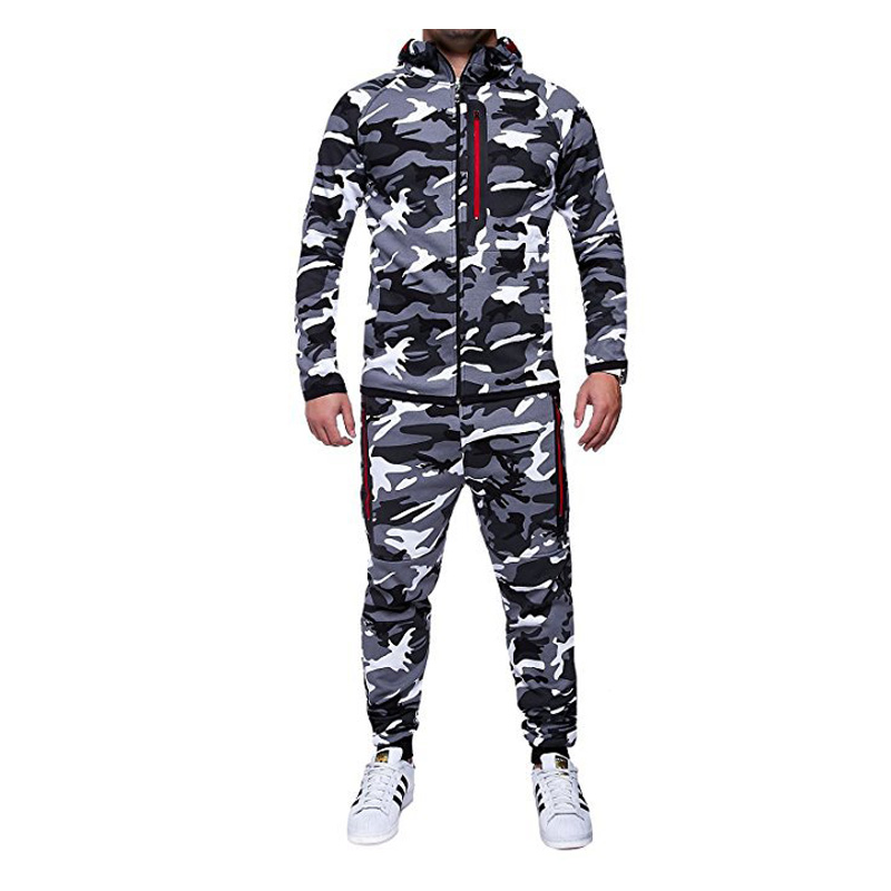 Men Tracksuit Camouflage Sweatshirts Hoodies Casual Mens Tracksuits Hoodies Sweatpants Sportswear Military Pullover Male