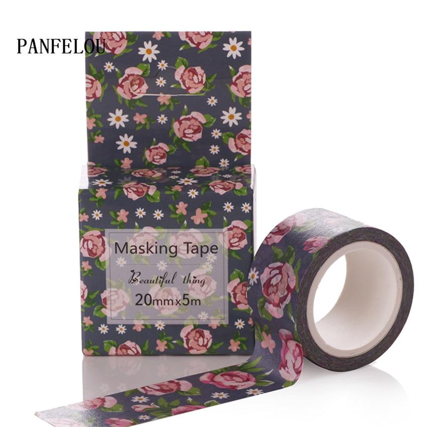 PANFELOU 2CMx5M rose cartoon Stickers border masking adhesive line paper washi tape DIY  ...