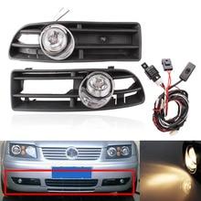 купить 2 PCS Front Lower Racing Grills Grille & Wiring Harness Switch with Fog Light Lamp For VW Golf MK4 GTI TDI 1999-2004 по цене 2903.17 рублей