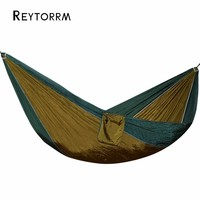Backpacking Survival Camping Hammock Easy To Set Up Portable Parachute Nylon Hamak For Outdoor Travel Playing