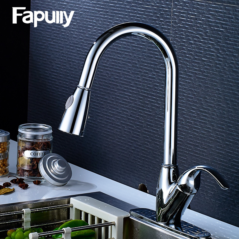 Fapully Kitchen Faucet Mixer Rotate Swivel 2-Function Outlet Water Faucet Deck Mounted Single Hole Kitchen Tap 225-33C narcyz drinking water filter faucet deck mounted mixer valve chrome single hole purifier 3 way water kitchen faucet mixer xt 32