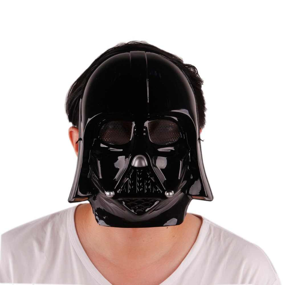 1 sztuk/partia pcv star wars maska oświetlenie led party cosplay czarny zaskórnika całą twarz maska horror maski na maskaradę na halloween