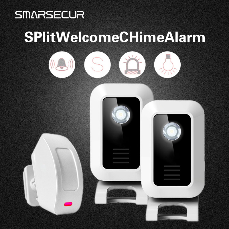 Welcome Shop Store Home Welcome Chime Wireless Infrared IR Motion Sensor Door bell Alarm Entry Doorbell Reach 150m safurance wireless motion sensor detector gate entry door bell welcome chime alert alarm home automation home security