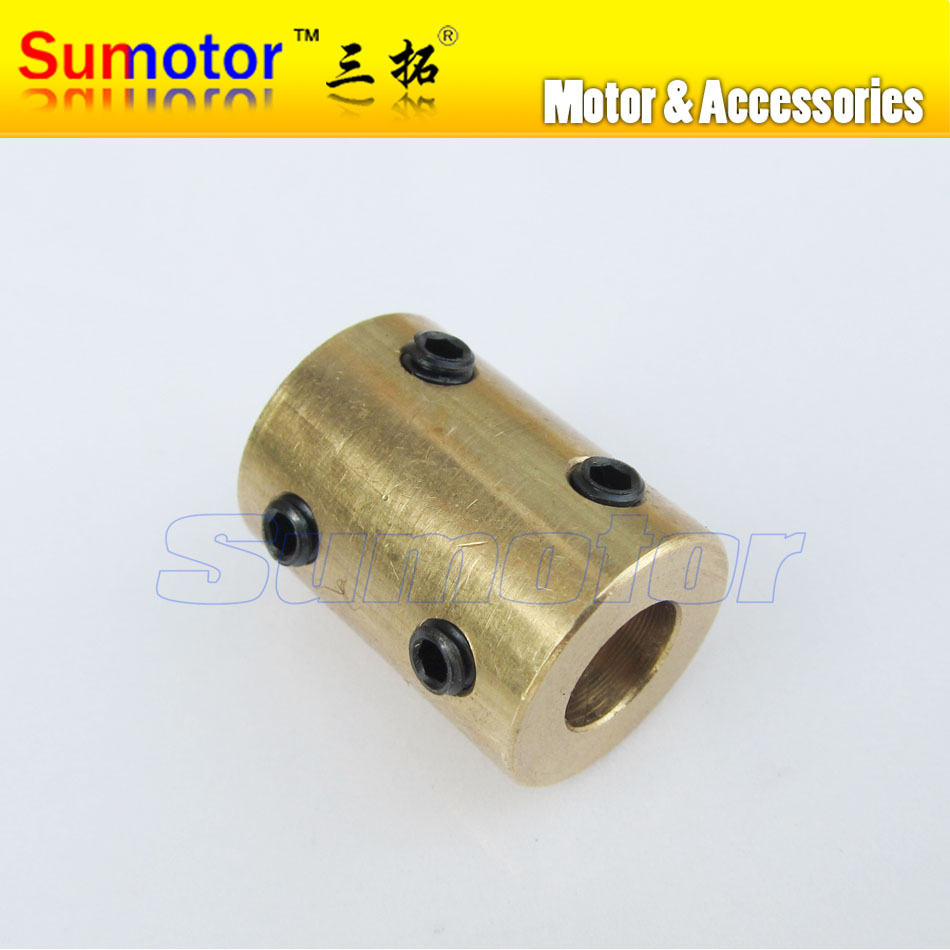 Brass Rigid coupling for Motor shaft OD14mm 16mm L22mm with Tighten screws Inner bore diameter 4mm 6mm 7mm 8mm 6*8mm 7x8mm цена