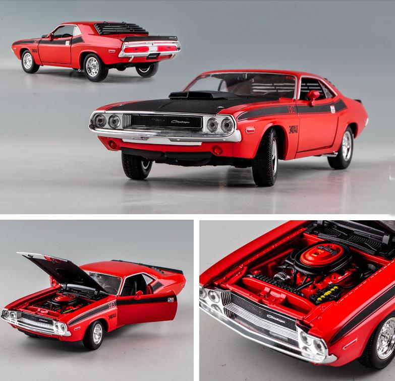 Dodge Challenger 1970 Muscle Retro Sports,1:24 Advanced alloy car toy,collection model,free shipping image