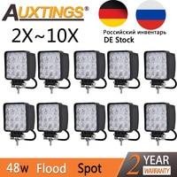 Auxtings 2pcs 10pcs Waterproof 48w Flood Spot Led Work Light Bar Waterproof CE RoHS Offroad Truck