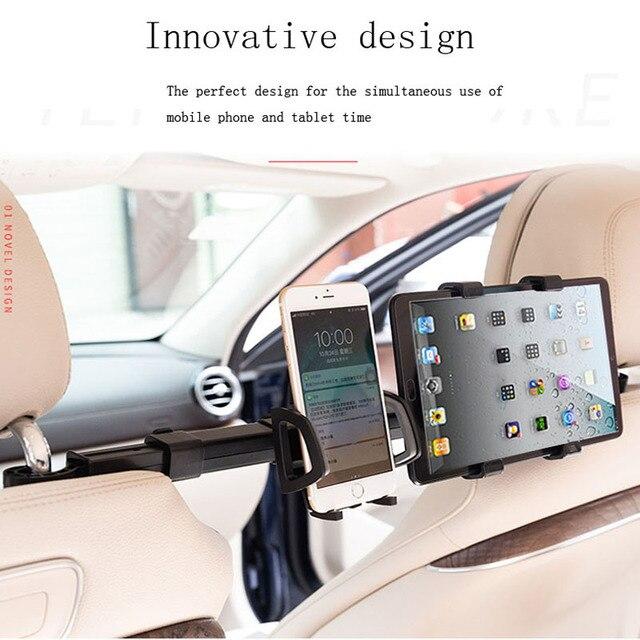 Samochód Tablet PC uchwyt telefonu uniwersalny 2 w 1 Rack 360 stopni powrót podłokietnik do siedzenia stojak do montażu uchwyt na ipada uchwyt na Tablet lub telefon