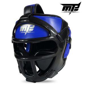 Image 2 - Kids Adults MMA Boxing Muay Thai Helmets W/Mask Martial Arts Taekwondo Removable Sparring Sanda Training Headgear 2019 EO