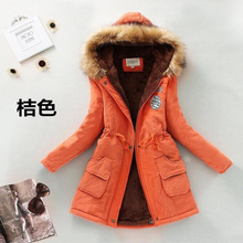 Winter Coat Women 2016 New Parka Casual Outwear Military Hooded Thickening Cotton Coat Winter Jacket Fur Coats Women Clothes