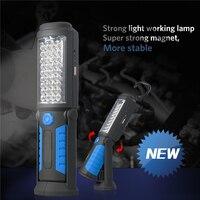 Super Bright USB Charging 36 5 LED Flashlight Work Light Magnetic HOOK Mobile Power For Your