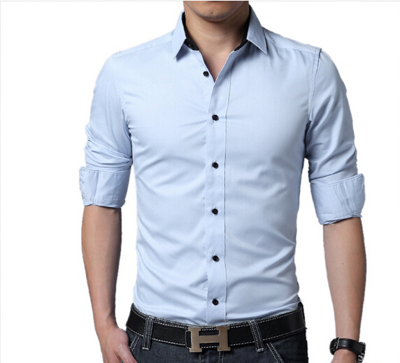 Spring Autumn Cotton Dress Shirts High Quality Mens Casual Shirt,Casual Men Plus Size M- ...