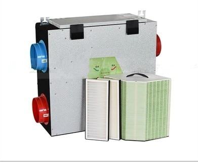 Full heat exchange fan Fresh air system fan Full heat exchanger system HVAC air conditioning fan 100mm 150mm 220V title=