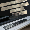 Freeshipping stainless steel scuff plate door sill 4pcs/set car accessories For KIA RIO sedan hatchback 2006-2012 2013 2014 2015