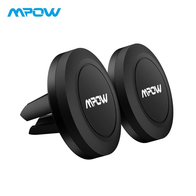 MPOW 2PCS Universal Strong Magnetic Car Phone Holder 360 Degree Rotatable Car Air Vent Mount Cellphone Holder For iPhone X/8/7/6