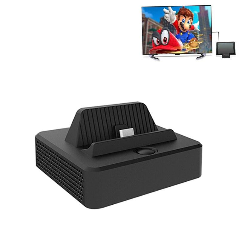 Pour Nintend Commutateur NS Console Type C TV Dock Base Vidéo Convertisseur HDMI Sortie Dock Station Mont Cas D'affichage et charge USB 3.0