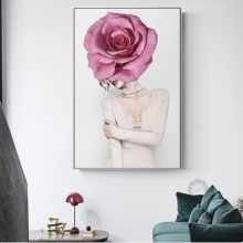 Nordic Beauty Woman Classical Canvas Painting Flowers Posters And Prints Wall Pictures For Living Room Girls Creative HD