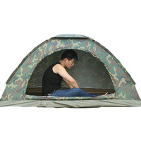 Outdoor Camping Anti mosquito Shade Single Layer Camouflage Tent Beach Travel Camping Tents for 2 People PU1000mm Rainfly
