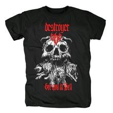 Bloodhoof destroyer666 brutal Death โลหะ Thrash โลหะผ้าฝ้ายสีดำเสื้อยืดขนาดเอเชีย