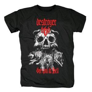 Image 1 - Bloodhoof destroyer666 brutal death metal thrash metal black  cotton t shirt Asian Size