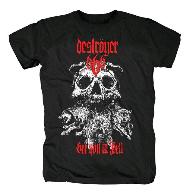 Bloodhoof destroyer666 brutal death metal thrash metal black  cotton t shirt Asian Size