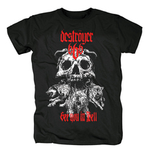 Bloodhoof destroyer666 brutal death metal thrash metal nero t shirt in cotone Formato Asiatico
