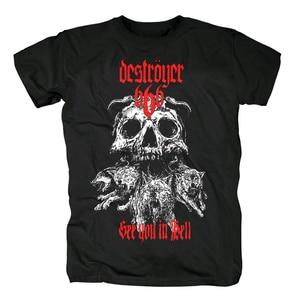 Image 1 - Bloodhoof destroyer666 残忍なデスメタルスラッシュメタル黒綿 tシャツアジアンサイズ