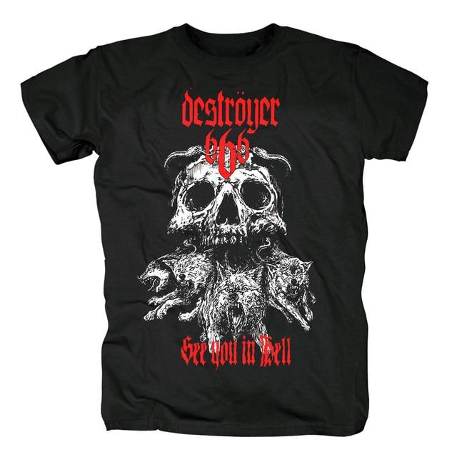 Bloodhoof destroyer666 残忍なデスメタルスラッシュメタル黒綿 tシャツアジアンサイズ