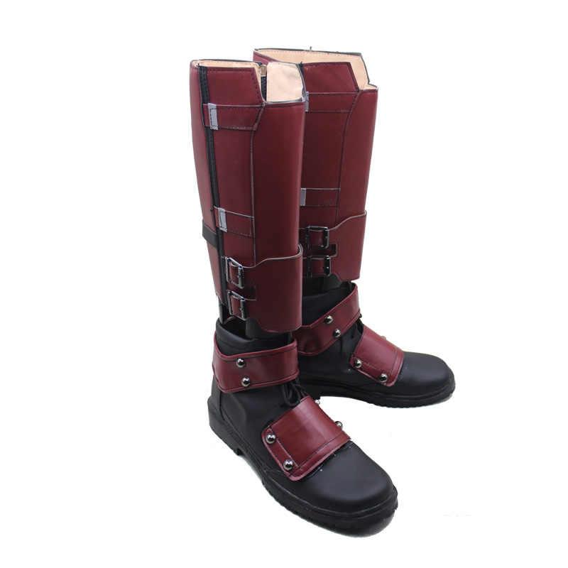 chaussures héros taille film PU fermeture Super Nouveau 47 35 x bottes Cosplay cuir Avengers men Deadpool éclair Cosplay Deadpool The hero 3q5cjL4AR