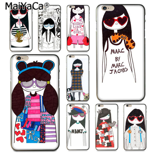 MaiYaCa Marc. Jacobs Girl Cinderella Drawing TPU phone case for Apple iPhone  8 7 6 e6df59a12aa6