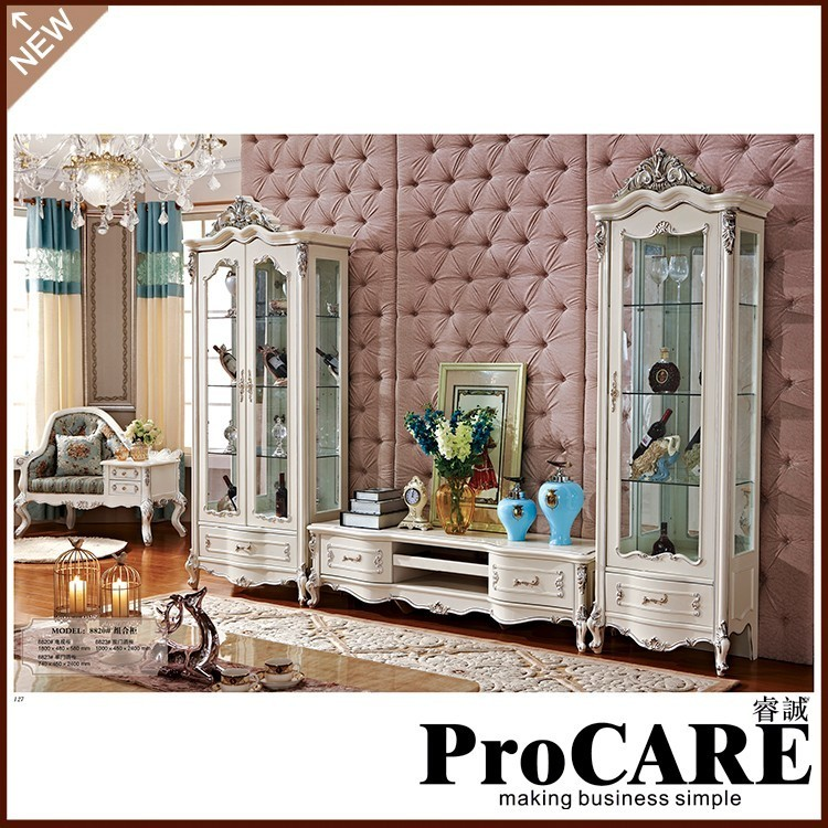 Buy white color tv stand antique living - White gloss living room furniture sets ...