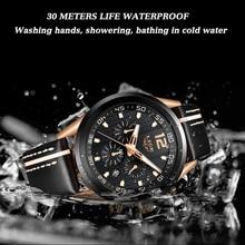 Men Watch Leather Waterproof Chronograph LIGE9948