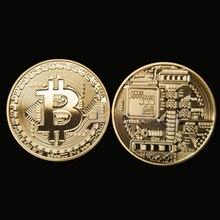 Произведений бтд коллекционные bitcoin монеты монета коллекция позолоченные искусства х подарок