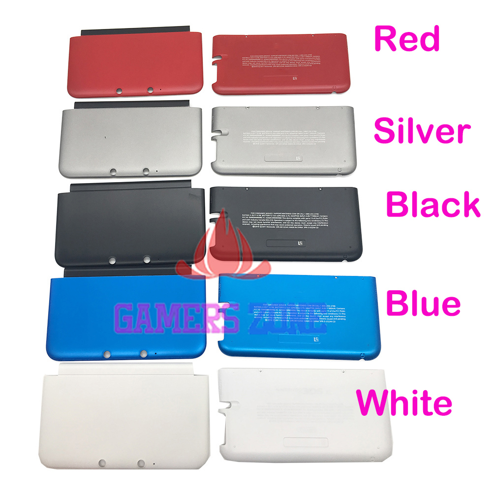5PCS Top Bottom A & E Faceplate Cover For 3DS XL LL Housing Shell Front Back Case-in Cases from Consumer Electronics    3