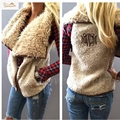 Fashion Autumn Winter 2016 Women Letter Embroidery Leisure Faux Fur Vest Sleeveless Solid Outwear Cardigan Waistcoat WV71