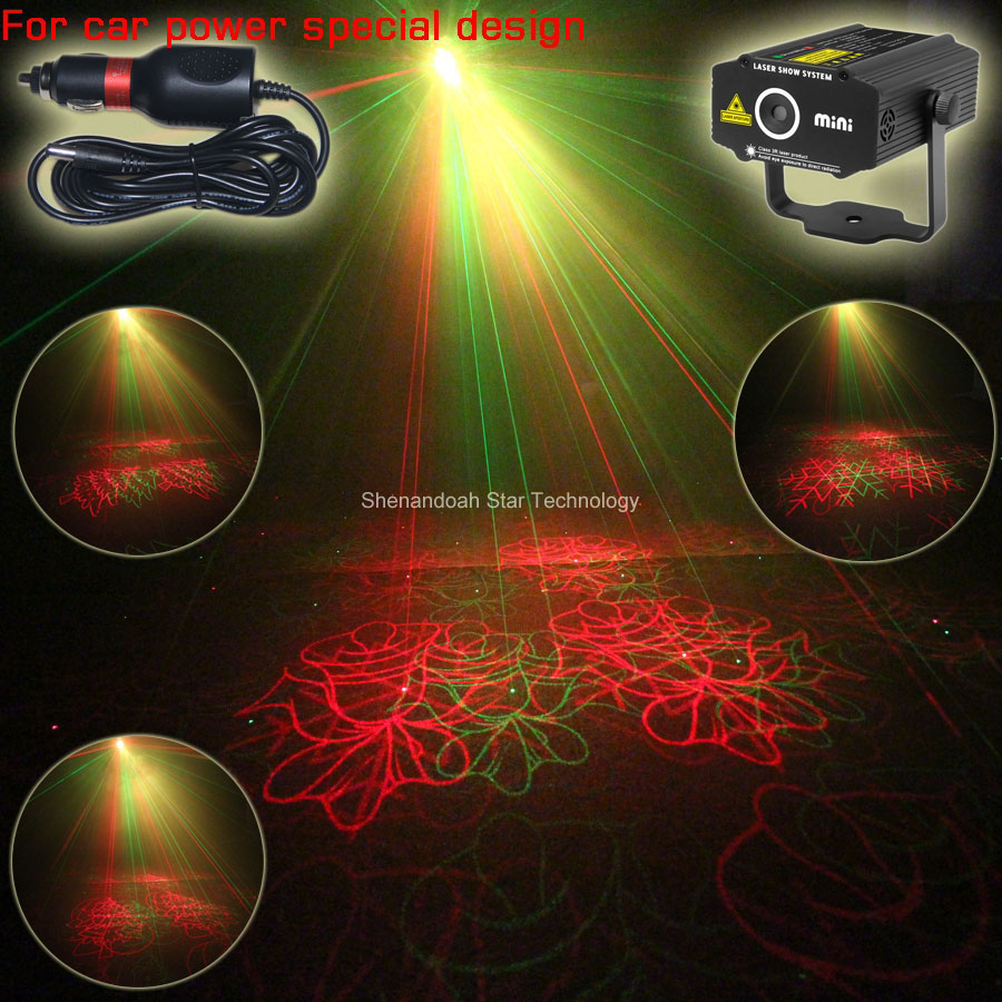 New Car Used plug mini R&G laser Christmas 4 patterns Projector field outdoor garden hillside Park Party effect Xmas Light CR8