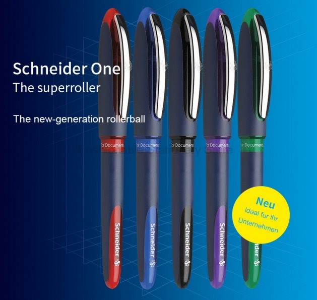 3 Pcs/Lot Schneider Hybrid N blue black red green ink 0.3mm 0.5mm Gel Pens Writing Supplies wholesale сноуборд apo iconic eero hybrid dual 161w black grey red
