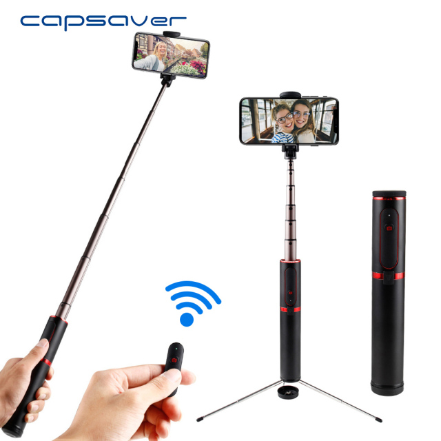 capsaver Foldable Selfie Stick Bluetooth Wireless Shutter Selfiestick