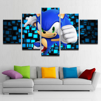 Canvas Poster Modular Home Decor HD Printed 5 Pieces Cartoon Characters Paintings Wall Art Animation Pictures