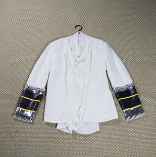 Sass Bide The Beat Of The Latest Hand Beaded Silk Jacket In Black And White Casual Jacket Silk Silk Jacketsilk Jacket Dress Aliexpress