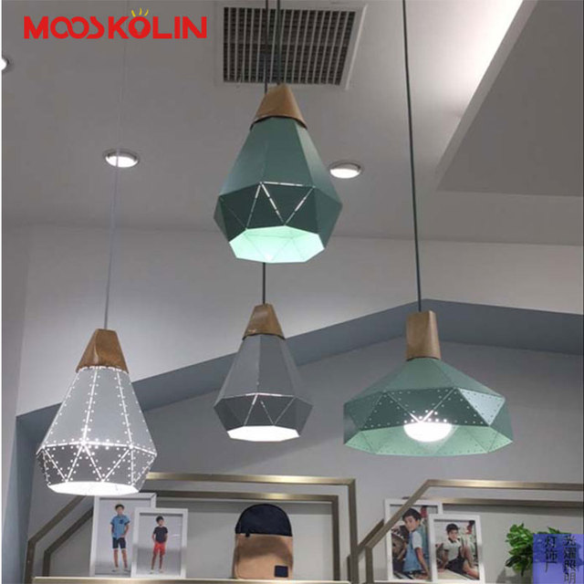 Moderne LED Pendelleuchten Holz Eisen Shade Hanglamp Für Wohnzimmer/ Restaurant/Küche Leuchte Deckenleuchten Hause
