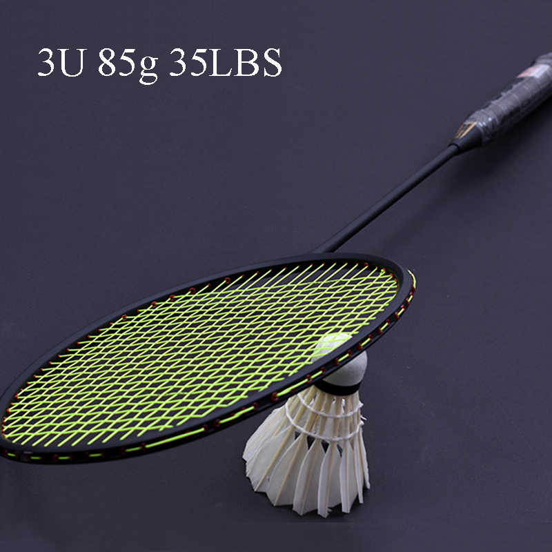 LOKI TI900 High Tension Carbon Badminton Racket Violent Smash Offensive Badminton Racquet 3U 85g 35LBS