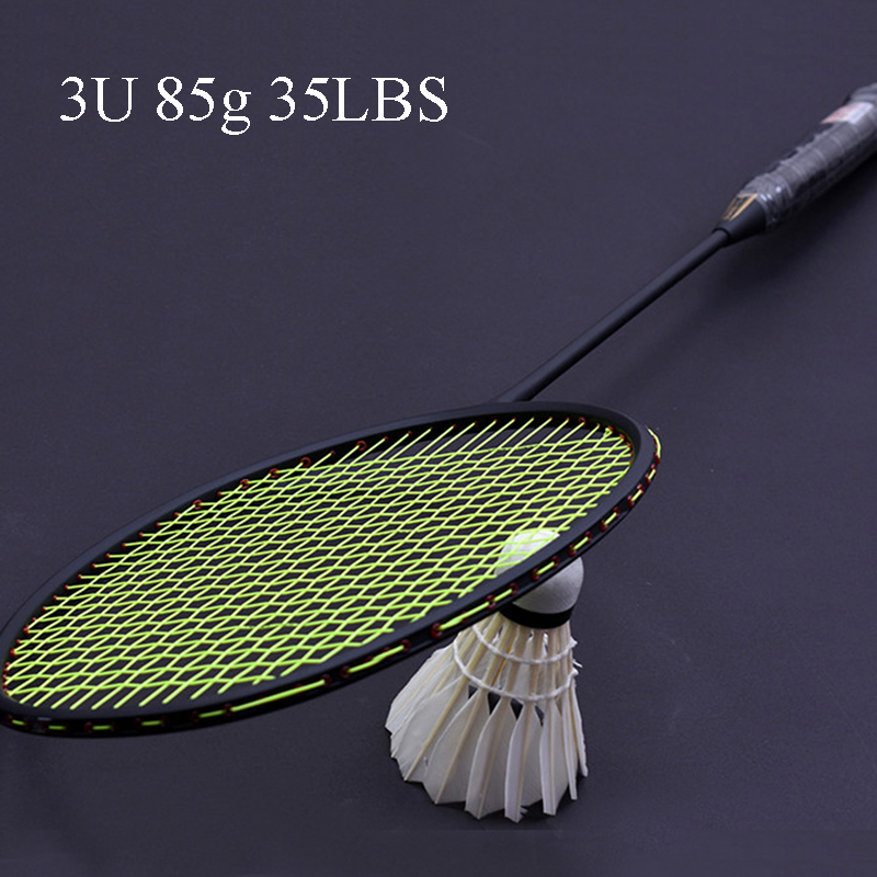 LOKI TI900 High Tension Carbon Badminton Racket Violent Smash Offensive Badminton Racquet 3U 85g 35LBS new arrival arc10 5u 77g super light badminton racket 100% carbon black white badminton racquet traning racket