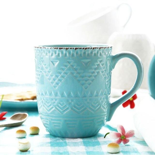 360ml Embossed Glazed Ceramic Mug Tea Cup with Handle Elegant Stoneware Coffee Mug Drinkware for Milk Tea Ceramic Mug Gift  sc 1 st  AliExpress & 360ml Embossed Glazed Ceramic Mug Tea Cup with Handle Elegant ...