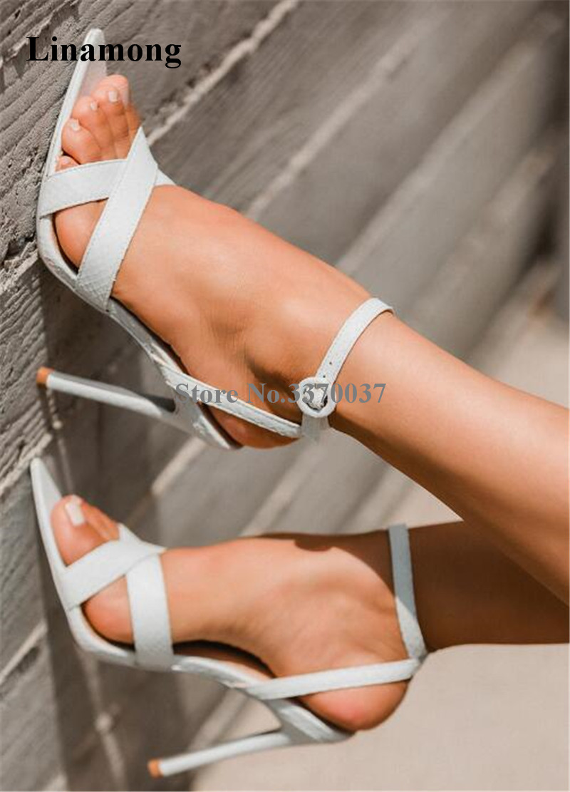 High Quality Women Fashion Open Toe Strap Cross Thin High Heel Sandals Ankle Strap Suede Leather High Heel Sandals цена
