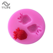 TTLIFE Strawberry Silicone Mold Fruit Candy Chocolate Biscuits Decorating Tool Fondant Cake Handmade Soap Dessert Baking Moulds