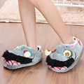 Creative Women Men Winter Indoor Shoes Zombie Plush Slippers Geek Footwear Winter Warm Soft Shoes Gift HSG27