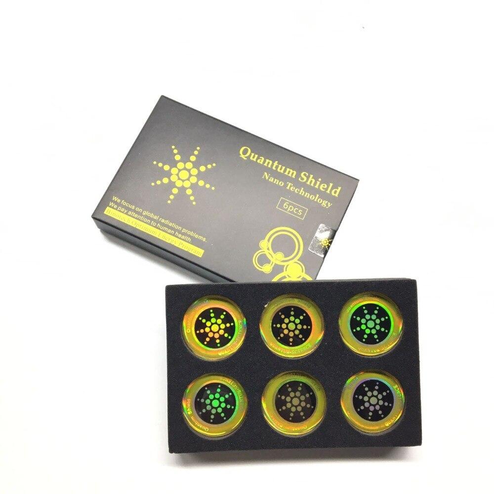 Autocollant de téléphone portable autocollant de bouclier quantique 100 pièces pour la Protection Anti-Radiation de téléphone portable d'emf Fusion Excel Anti-rayonnement